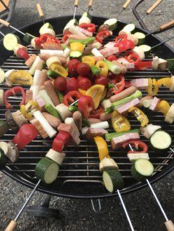 とってもジューシー!野菜たっぷり串BBQ☆