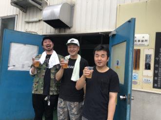 滋賀にて出張BBQ(^^)♪